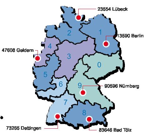 Omnikon Service-Stützpunkte